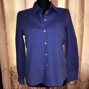 Blue button up dress shirt